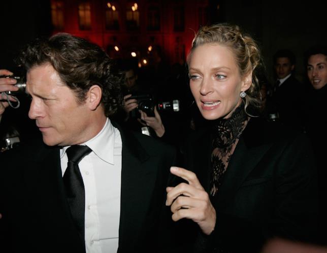 Uma Thurman con l'ex marito Arpad Busson
