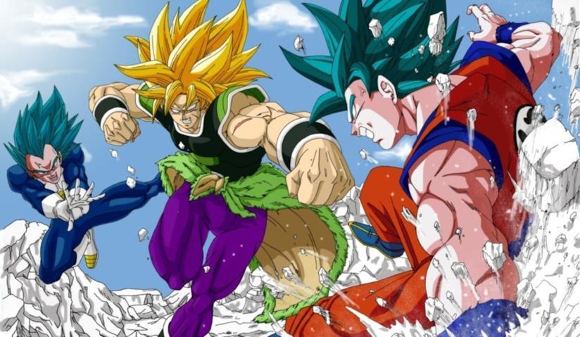 Broly contro Goku e Vegeta