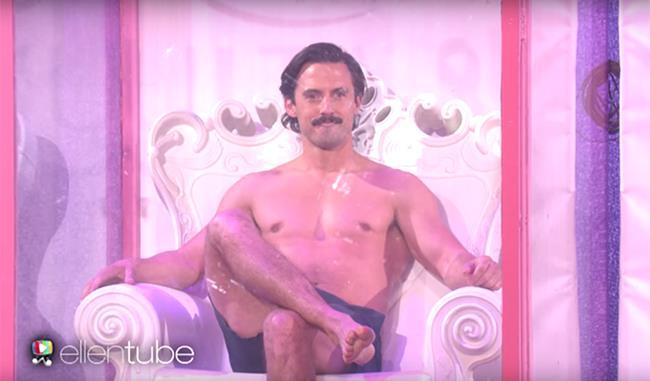Milo Ventimiglia fa la doccia in diretta TV per una buona causa
