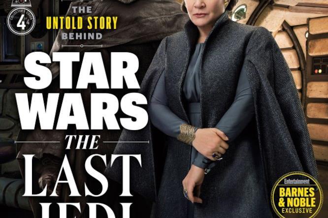 Luke Skywalker e la principessa Leia riuniti nella cover di EW