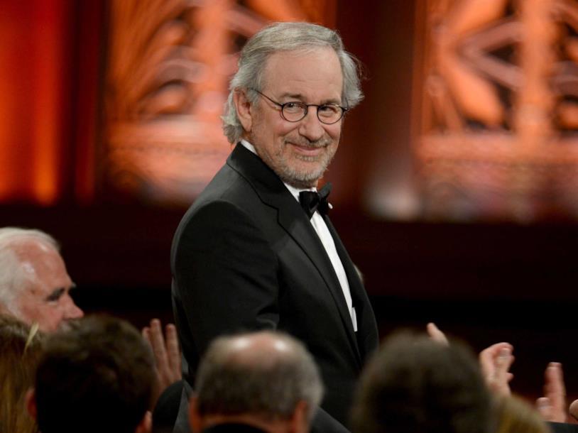 Primo piano del regista Spielberg