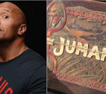 Dwayne Johnson di fianco al diabolico gioco da tavola di Jumanji