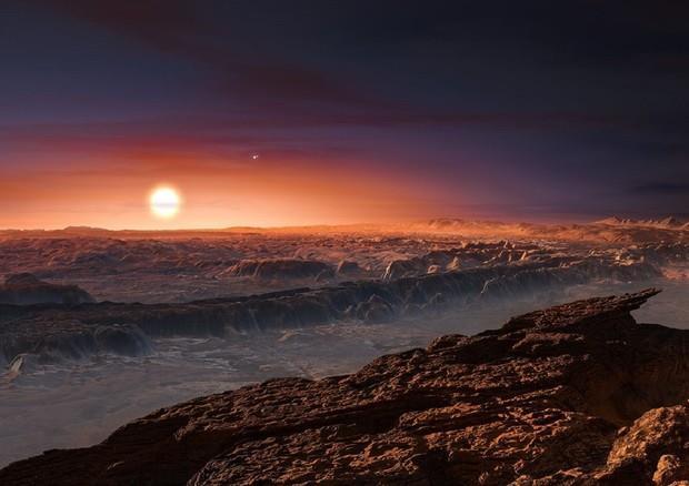 Immagine artistica di Proxima Centauri b