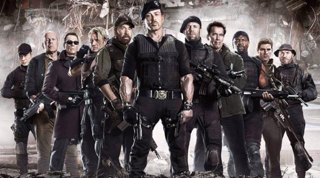 Il cast di Mercenari 1