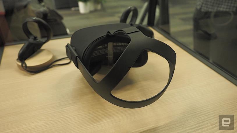 Il visore dell'Oculus Quest