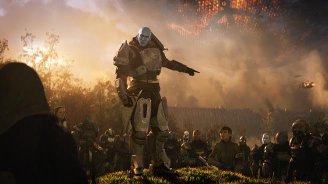 Guardiani a raccolta in una scena del trailer di Destiny 2