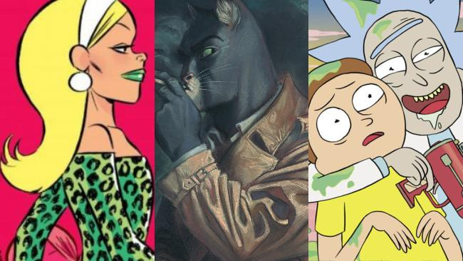 Cinzia, Blacksad e Rick and Morty