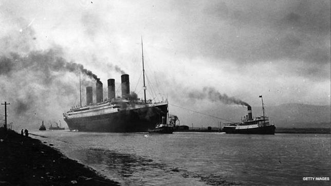 Il Titanic in mare