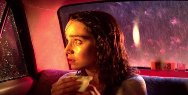 Jessica Harper nella scena del taxi in Suspiria