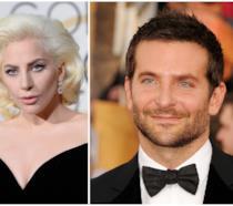 Primo piano di Bradley Cooper e Lady Gaga