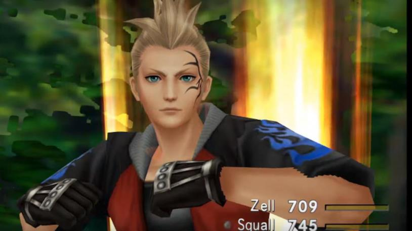 Zell in Final Fantasy VIII Remastered