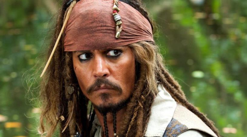 Jack Sparrow, pirata interpretato da Johnny Depp