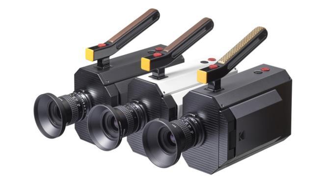 Primo piano dei tre modelli della nuova Kodak Super 8