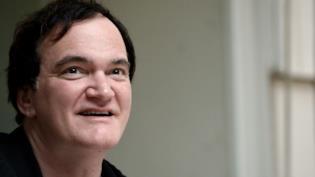 Un primo piano del regista Quentin Tarantino