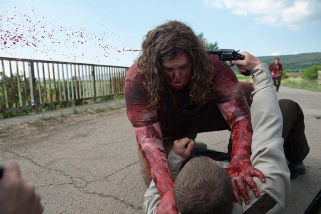 Scena del film Leatherface