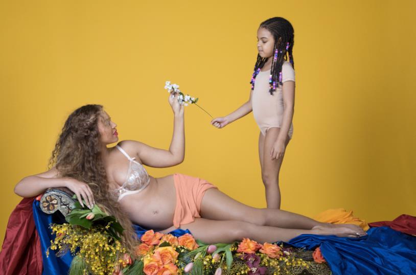 Beyoncé incinta insieme alla figlia Blue Ivy