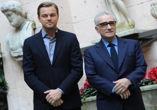 Leonardo DiCaprio con il regista Martin Scorsese
