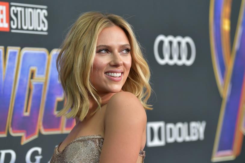 L'attrice alla premiére mondiale di Avengers: Endgame