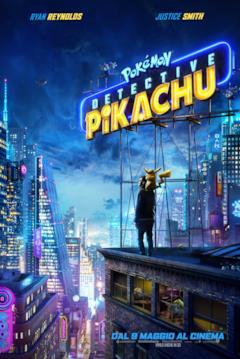 Detective Pikachu e Tim nel poster italiano del film