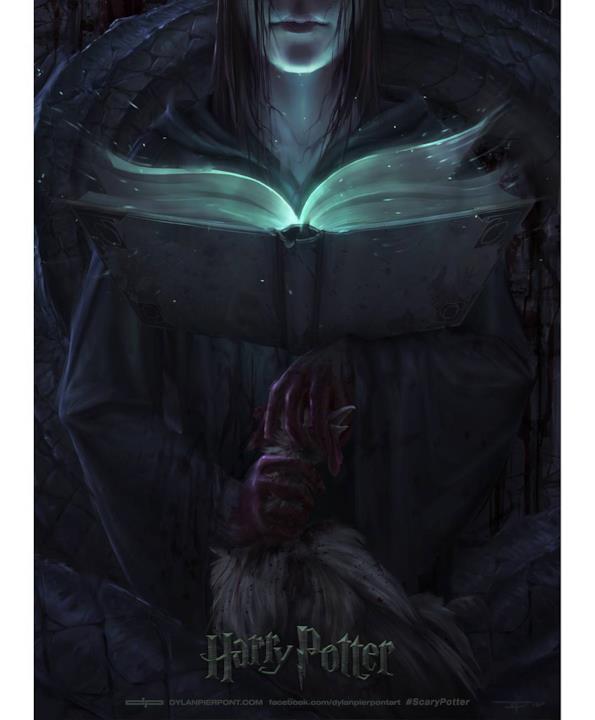 La copertina di Harry Potter e la Camera dei Segreti in versione horror