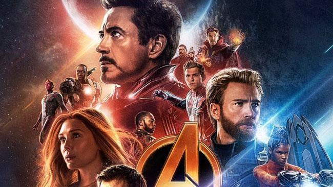 Gli eroi Marvel in un poster di Avengers: Infinity War