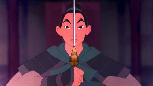Una scena di Mulan