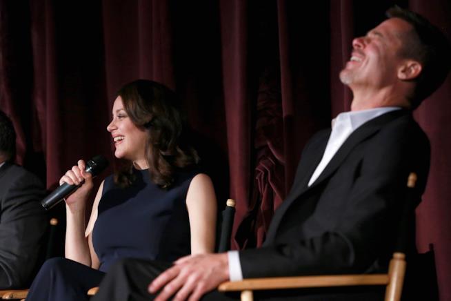Marion Cotillard e Brad Pitt in conferenza stampa