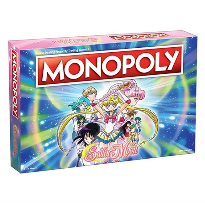 La confezione del Monopoly versione Sailor Moon
