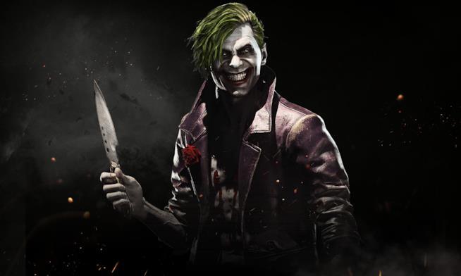 L'inquietante sorriso del Joker in Injustice 2