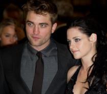 Primo piano di Kristen Stewart e Robert Pattinson