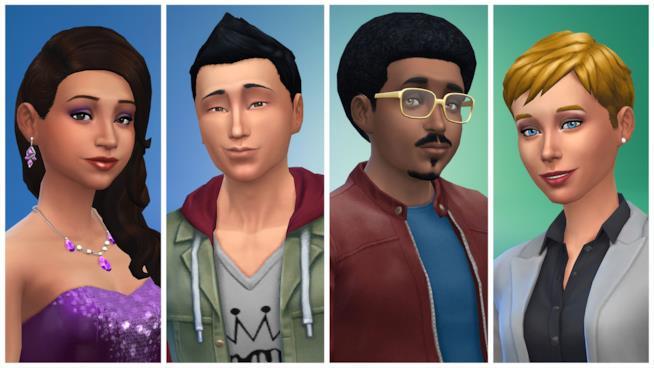 Alcuni personaggi creati con The Sims 4