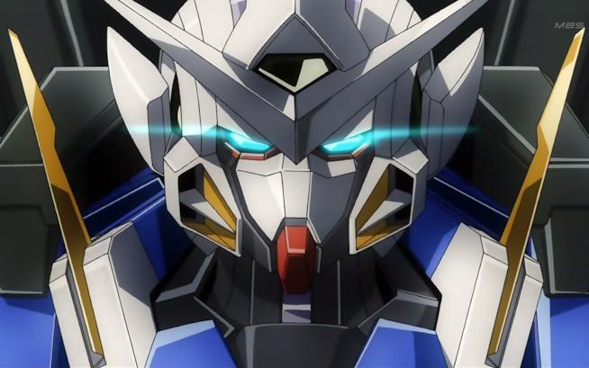 Primo piano di un Mobile Suit da Gundam