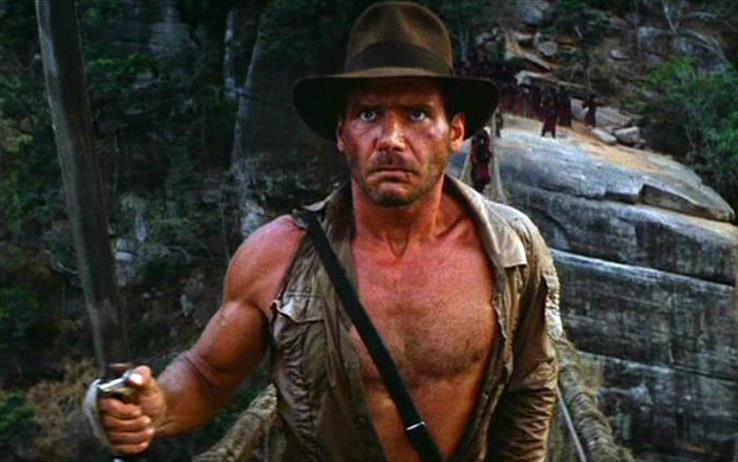 Harrison Ford nei panni di Indiana Jones con il suo classico cappello