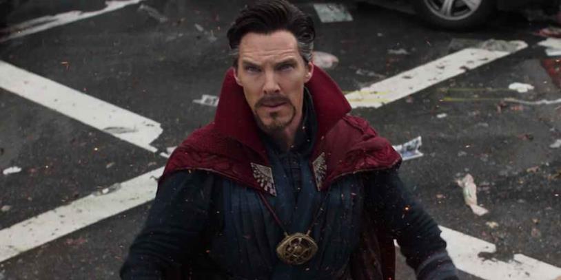 Doctor Strange in una scena di Infinity War