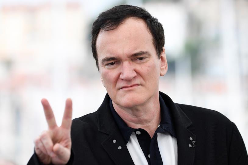 Quentin Tarantino in posa per i fotografi