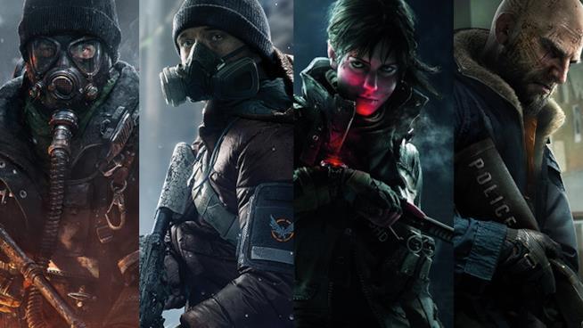 I personaggi di The Division nel character poster ufficiale