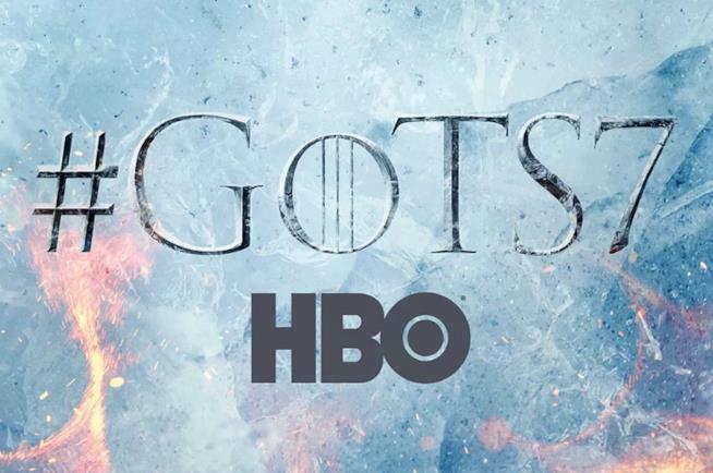 Logo di Game of Thrones 7 e HBO nel poster
