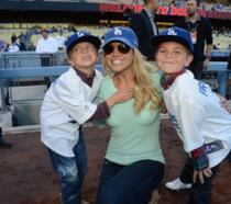 Primo piano di Britney Spears con i figli