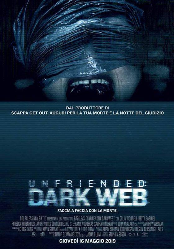 La locandina ufficiale dell'horror sequel di Unfriended
