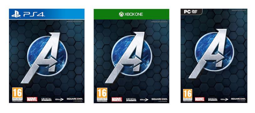 La copertina momentanea di Marvel's Avengers