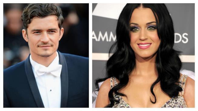 Primo piano di Katy Perry e Orlando Bloom