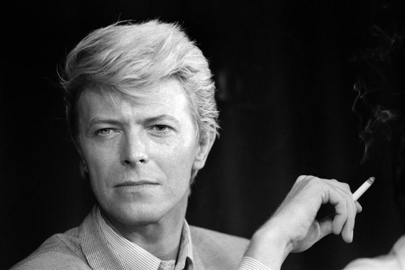 Un'immagine di repertorio del cantante David Bowie