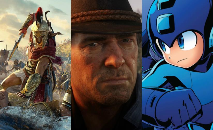 Gli eroi di Assassin's Creed Odyssey, Red Dead Redemption 2 e Mega Man11