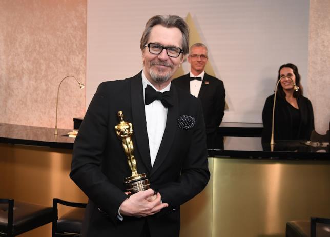 L'attore Oldman vincitore del premio Oscar come miglior attore 2018