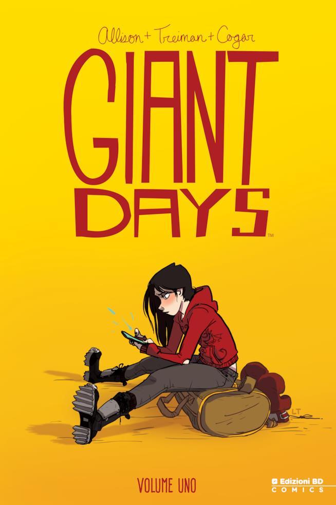 Esther sulla copertina del primo volume di Giant Days