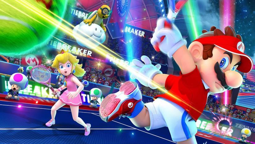 Un artwork promozionale per Mario Tennis Aces