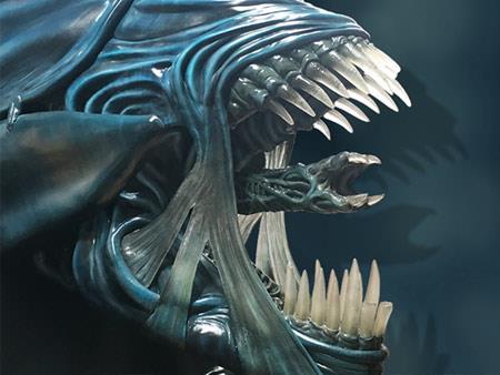 Particolare della mascella della Regina di Aliens