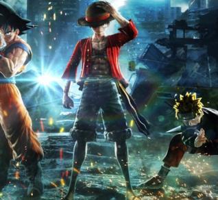 Jump Force Goku Naruto e Rufy