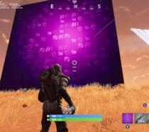 Il gigantesco cubo viola nella mappa di Fortnite