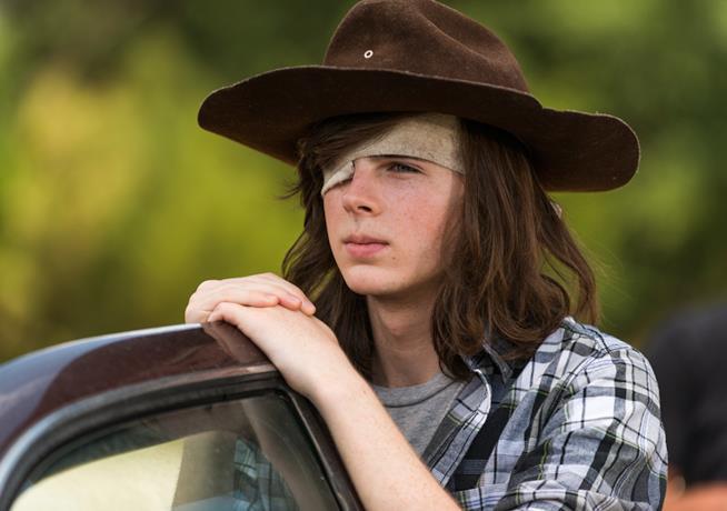 Carl in The Walking Dead 7